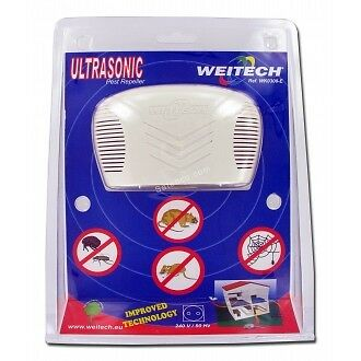 WEITECH WK 0300 Répulsif ULTRASONS CHASSE RATS SOURIS MULOTS INSECTES TIQUES PUC