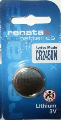 Renata Lithium Batterie CR2450N - ED:07.2025  Swiss Made, DL2450 Gerätebatterie