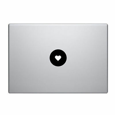 Heart vinyl sticker Mac Book/Air/Retina laptop decal 11 13 15 17""
