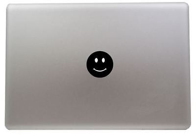 Smiley face vinyl sticker Mac Book/Air/Retina laptop decal 11 13 15 17""