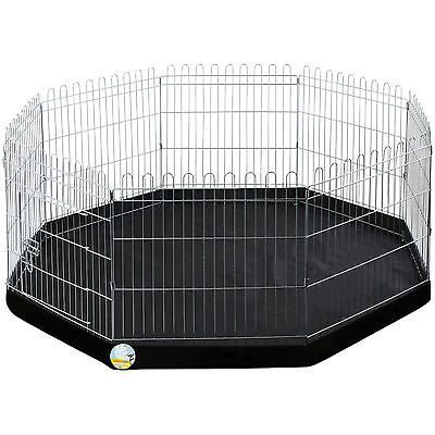 Me & My Pets Medium Folding Playpen Cage & Floor Mat Dog/puppy/rabbit Garden Run