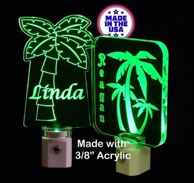 Palm Tree night light Personalized LED NightLight - Palm Trees - Lamp