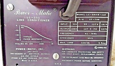 Power-Matic LC-503 Line Conditioner