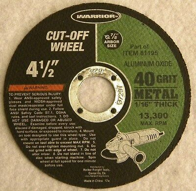 "CUT-OFF WHEEL 4-1/2"" disc HIGH SPEED FOR METAL for AIR PNEUMATIC CUTTER"
