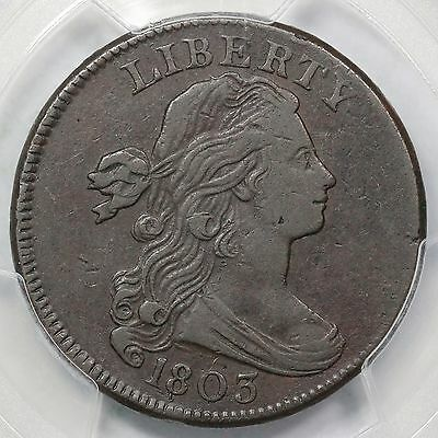 1803 S-251 PCGS XF Details Sm Date, Sm Frac Draped Bust Large Cent Coin 1c