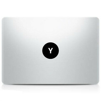 "Alphabet letter ""Y"" Macbook Sticker Laptop Decal Mac Pro Air Retina 11 13 15 17"""