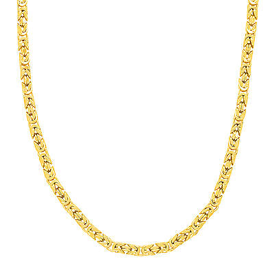 """18"""" Byzantine Chain in 18K Gold-Plated Sterling Silver"""