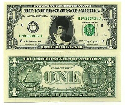 BRUCE LEE VRAI BILLET DOLLAR US! Arts Martiaux Film karate Combat Kung Fu Action
