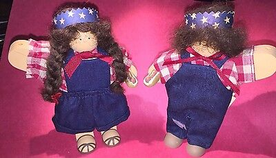 """Lizzie High 4th of July Dolls Boy & Girl 6"""" high with Tags"""