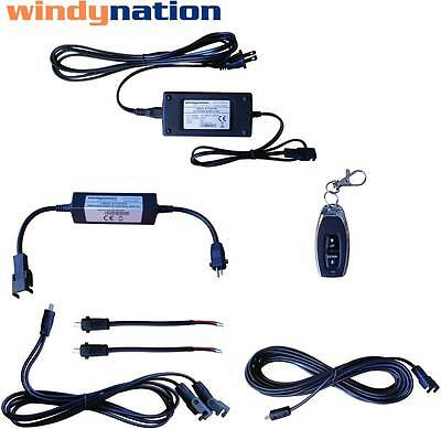 WindyNation Linear Actuator DC Motor Power Supply DPDT Remote Control & Wiring