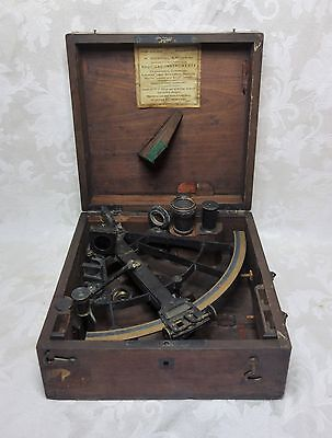 Antique WW1 Naval Maritime American Nautical Sextant Quintant World War I Navy
