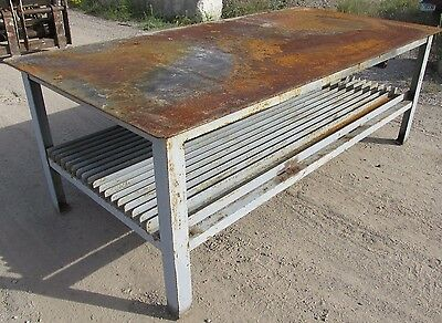 "Steel Work Bench Welding Table 4' x 8' x 34-1/2"" 2462 WVS"
