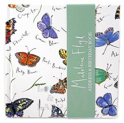 Madeleine Floyd Square Address And Birthday Book - Butterflies - Perfect Gift