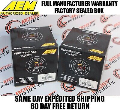 AEM X-Series AFR Wideband Sensor Controller Gauge & Boost Pressure Display Gauge