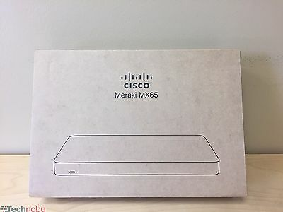 Cisco Meraki MX65 Cloud-Managed Security Appliance MX65-HW (SAME DAY SHIPPING)