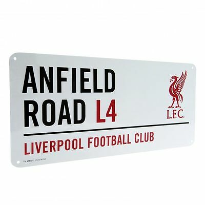 Liverpool FC Decorative Metal Stadium/Street Sign - Official Merchandise