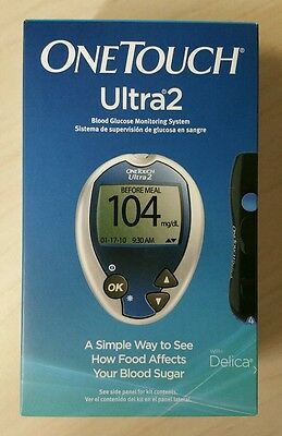 One Touch Ultra 2 Ultra2 Blood Glucose Meter Monitoring System & Lancing Device