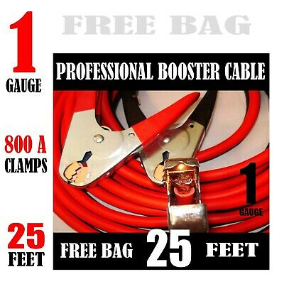 Industrial Heavy duty 30 Feet 1 Gauge Booster Jumper Cables