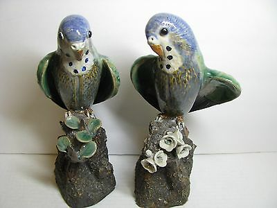 Chinese PARROTS Statue Porcelain Bird Clay Resin Figure Ceramic Figurines China