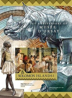 Z08 IMPERFORATED SLM16213b SOLOMON ISLANDS 2016 Musee d'Orsay MNH