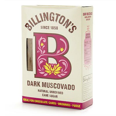 NEW Billington's Dark Muscovado Cane Sugar 500g