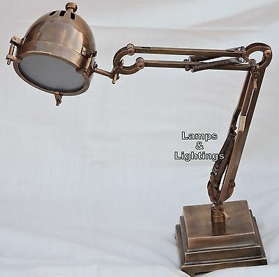 Vintage ARTICULATING SHOP LAMP LIGHT INDUSTRIAL MACHINE AGE STEAMPUNK Home Decor