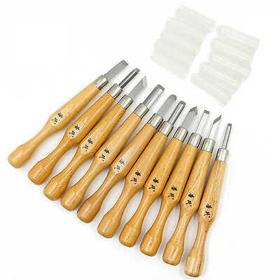 10Pcs Wood Carving Hand Chisel Knife Tool Set Woodworkers Gouges Professional