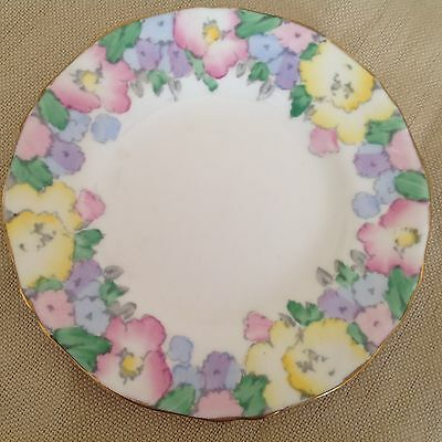 CROWN STAFFORDSHIRE bone china SIDE PLATE with flowers