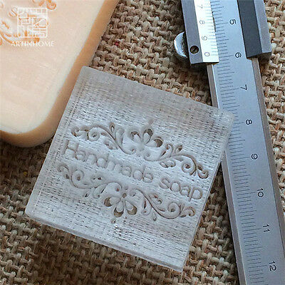 Handmade Patterns Soap Seal Stamp Mold Natural Acrylic Glass Customized DIY