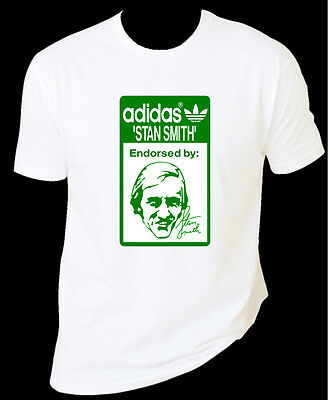 meilleur service cd08f 840c8 ADIDAS STAN SMITH Old School Style T-Shirt Tshirt White With Green Logo