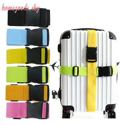 74″ Adjustable Solid Baggage Clip Belt Tag Strap Luggage Strong Suitcase Buckle