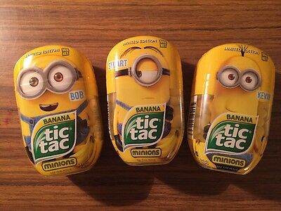 3x 98g Minion Tic Tacs Limited Edition FREE TRACKING DELIVERY! Past BB Date.