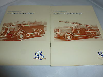 2 X Dennis Fire Engine Fire Service Pamphlet