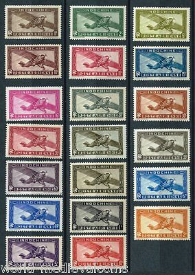 INDOCHINE complete Set 20 stamps Air Mail 1933-38 NH - MNH
