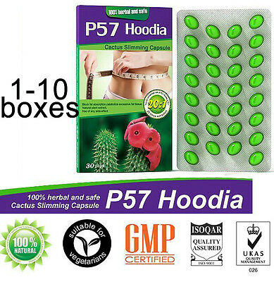 1-10 boxes HOODIA 57 Herbal Cactus Extract Strong Weight Loss Diet Slimming Pill