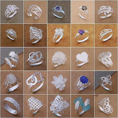 Wholesale New Fashion Jewelry Lady/Men Solid 925Silver Ring+Gift Box