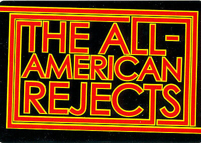 The All-American Rejects Self Titled RARE promo sticker '03