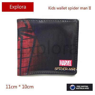Boys Girls Kids Teenage Biofold PU Leather Wallet -- Marvel Spiderman
