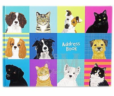 Waggy Tails A5 Address Book - Dogs And Cats - Perfect Gift Idea