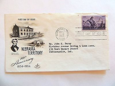 """May 7th, 1954 Centennial of """"Nebraska Territory Statehood"""" First Day Issue"""