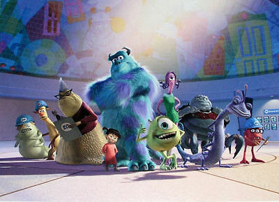 Official 2002 Disney Store Lithograph Collection Monster Inc Print