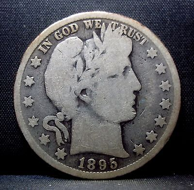1895-O Barber Half Dollar ✪ Good G ✪ 50C Silver L@@k Now Scarce Date ◢Trusted◣