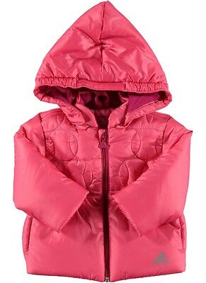 adidas baby girls pink padded coat. Infants coat. Infant jacket. 3-6 months