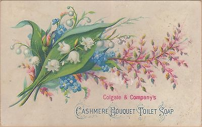 Victorian Trade Card-Cashmere Bouquet Toilet Soap-Colgate & Co (NYC)-Flowers