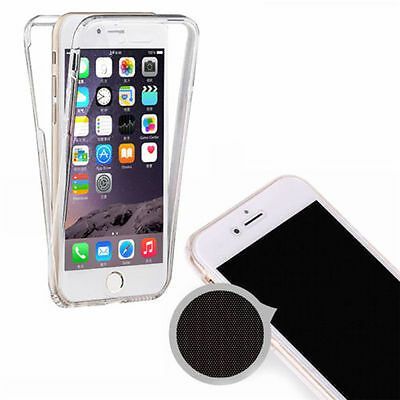 For iPhone 5 5S SE 360 Degree Front and Back TPU Gel Clear Case Cover