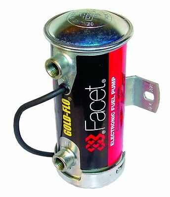FACET Silver Top Electric Fuel Pump (With a choice of Unions) Rally Race Race