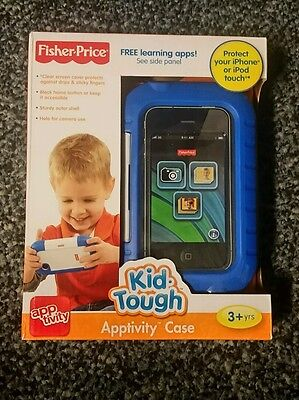 Fisher-Price Kid-Tough iPhone Apptivity Case, Blue New