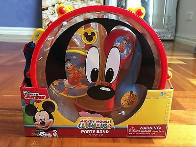 Disney Junior Mickey Mouse Clubhouse Party Band 10pcs Drum Set Musical Kit Toy