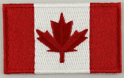 Canada Flag Patch Embroidered Iron On Applique Canadian