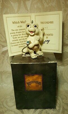 World Krystonia Figurine Dragon Statue Nib Coa Box 101 Which Way Groza Groc Baby